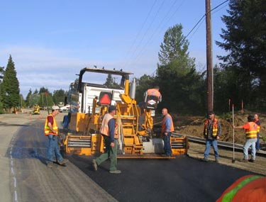 Asphalt paving project for Lakeside
